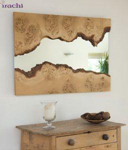 آینه-دکوراتیو-طرح-شکاف-چوب